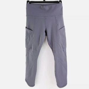 Athleta XS Solid Zipped Pocket Workout Leggins